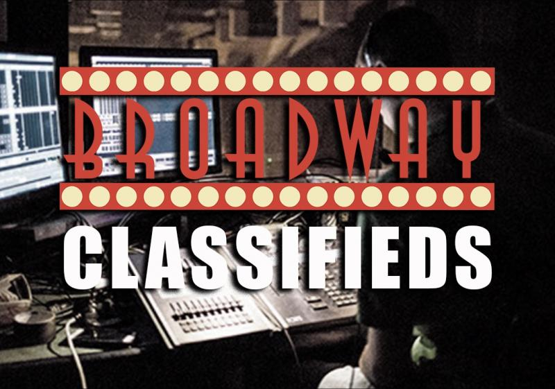 Stage Management, Press, Internship, On Stage Opportunities, More in this Week's BroadwayWorld Classifieds, 1/11