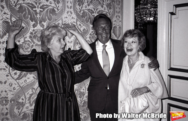 "Maureen Stapleton, Christopher Plummer and Glynnis Johns attend a Press junket for 'Little Gloria... Happy at Last"" at the Plaza Hotel on September 11, 1982 in New York City."
