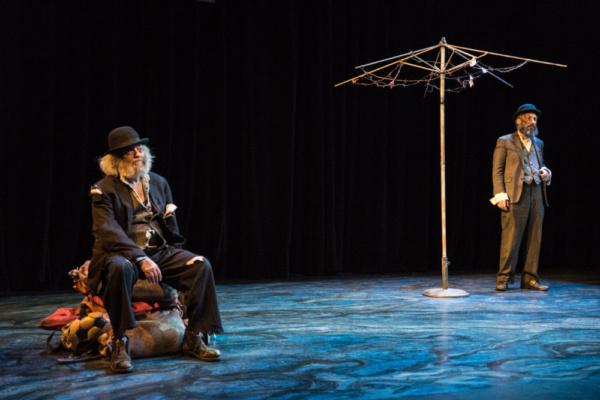 David Mandelbaum as Estragon and Eli Rosen as Vladimir. Photo by Dina Raketa. Photo