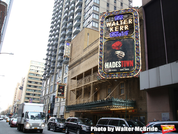 "Theatre Marquee unveiling for ""Hadestown"", a musical by celebrated singer-songwriter Anaïs Mitchell and directed by Rachel Chavkin at the Walter Kerr Theatre on January 4, 2019 in New York City."