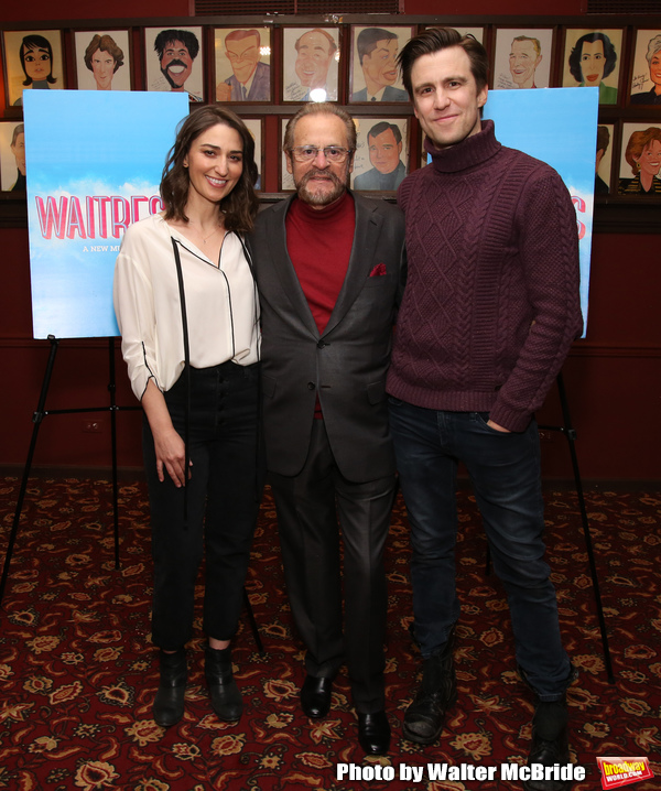 Sara Bareilles, producer Barry Weissler and Gavin Creel