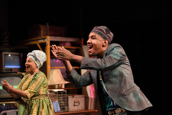 Julia Lema as Aunt Tina and Anwar Ali as Aretz Sabine. By Marcus Gardley