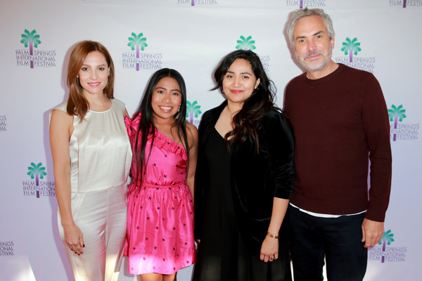 Marina De Tavira, Yalitza Aparicio, Lili Rodriguez, and Alfonso Cuaron  Photo