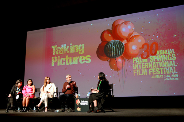 Yalitza Aparicio, Marina De Tavira, Alfonso Cuaron, and Lili Rodriguez Photo