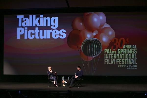 Glenn Close (L) and Dave Karger Photo