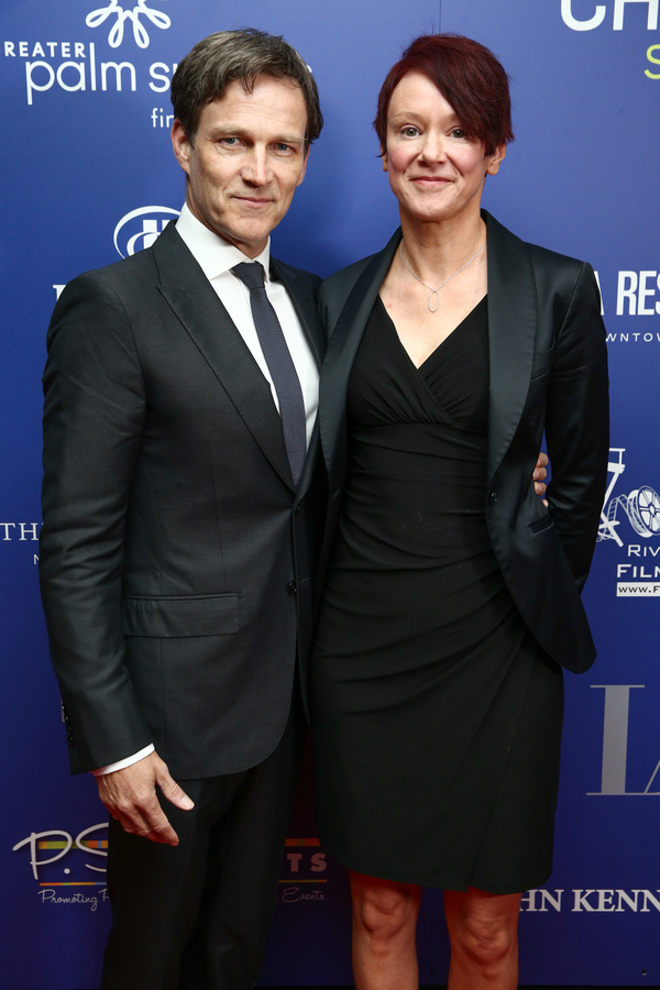 Stephen Moyer (L) and Cerise Larkin Photo