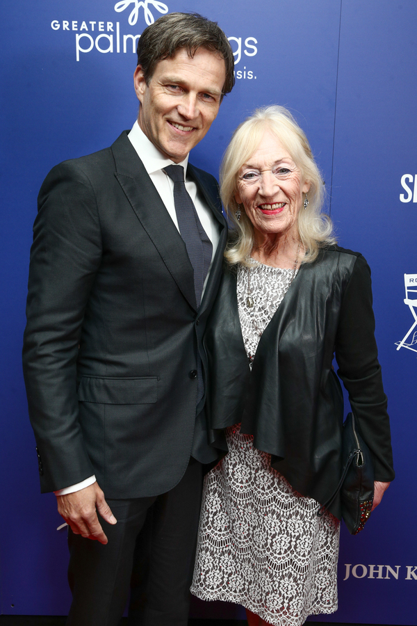 Stephen Moyer (L) and his mother Photo