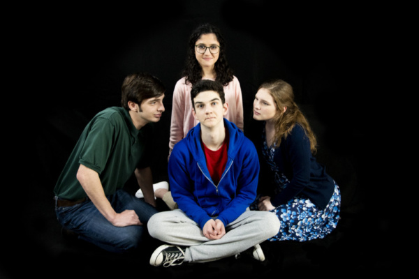 Dylan Cantu as Mr. Ed Boone, Elizabeth Belilty as Siobhan, Will McDonald as Christopher John Francis Boone and Alexa Stratton as Mrs. Judy Boone  photo by Jason Johnson-Spinos