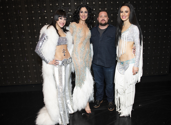 Photo Flash: Chaz Bono Gets Groovy Visiting THE CHER SHOW