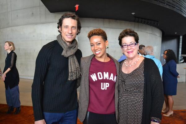 Jonathan David Martin (Morris Townsend), Lorene Chesley (Marian Almond) and Artistic Director Molly Smith