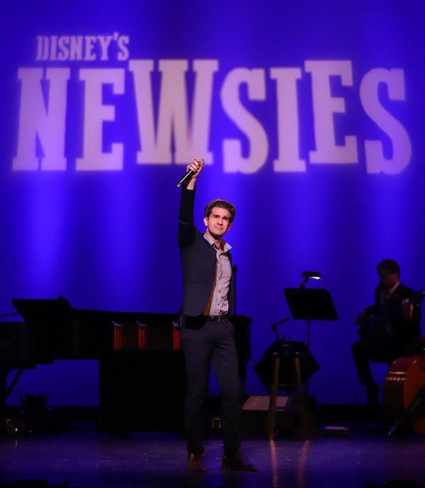Dan DeLuca helps The LEX announce Disney's Newsies for Summer 2019