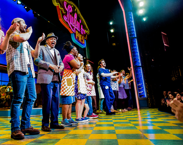 Photo Coverage: Opening Up! Sara Bareilles And Gavin Creel Take Their First Bows at WAITRESS!