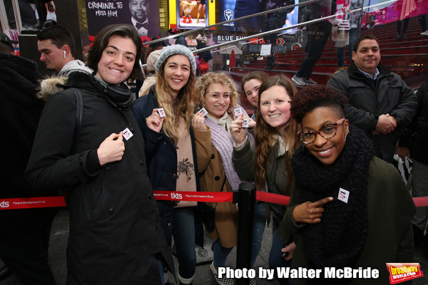 Barrett Wilbert Weed and TyNia Brandon with theatergoers