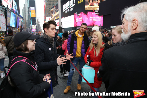 Stephanie Bissonnette and Kyle Selig with theatergoers  Photo