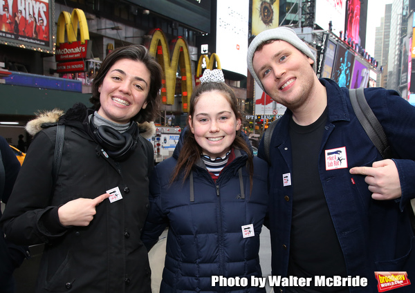 Barrett Wilbert Weed and Grey Henson with a theatergoer