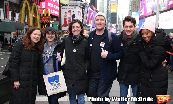 'Mean Girls' Cast Erika Henningsen, Stephanie Bissonnette, Barrett Wilbert Weed, Grey Photo