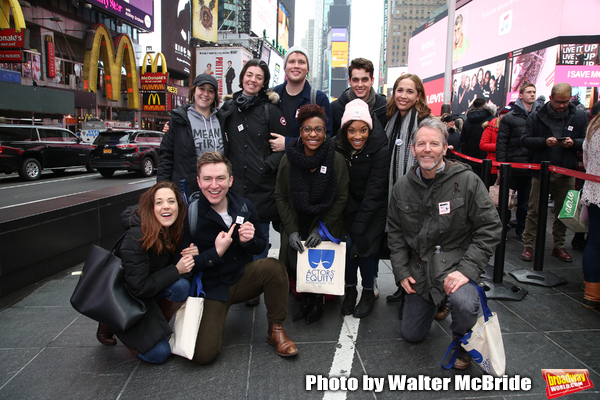 Actors' Equity members Erika Henningsen, Stephanie Bissonnette, Josh Daniel, Barrett Wilbert Weed, Grey Henson, TyNia Rene Brandon, Kyle Selig, Kamille Upshaw, Andrea Burns and Stephen Bogardus