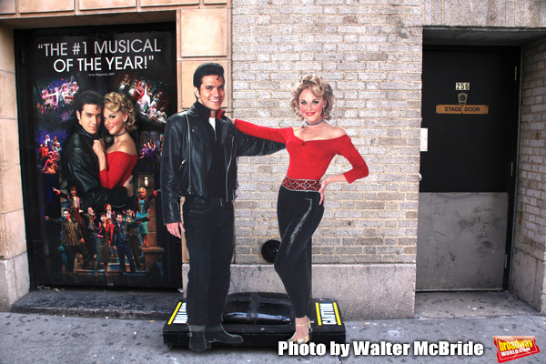 """Atmosphere at GREASE playing at the Brooks Atkinson Theatre during """"Black Sunday on Broadway"""" with nine productions closing all on the same Sunday afternoon. January 4, 2009"""