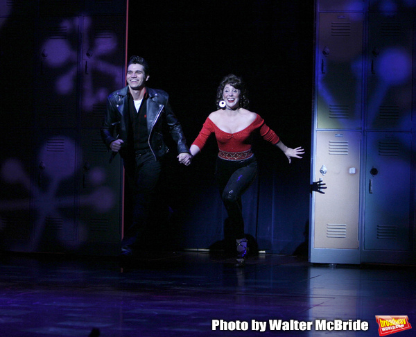 Derek Keeling & Anna Aimee White during bows asAmerican Idol Heartthrob Ace Young makes his Broadway Debut in the Broadway Revival of GREASE at the Brooks Atkinson Theatre in New York City.