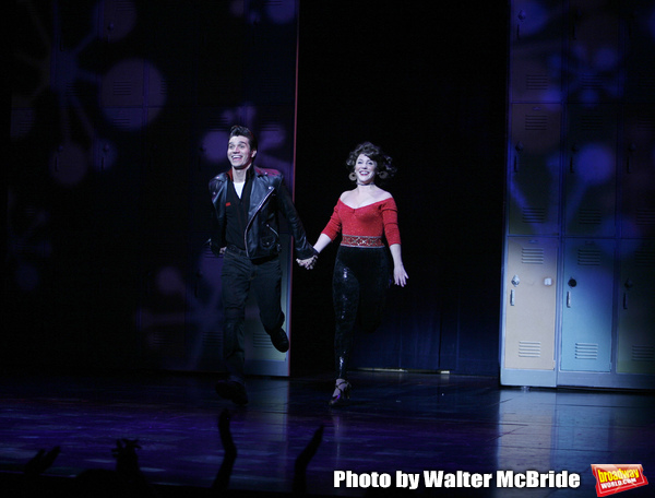 Derek Keeling & Anna Aimee White take bows as American Idol Heartthrob Ace Young makes his Broadway Debut in the Broadway Revival of GREASE at the Brooks Atkinson Theatre in New York City. September 11, 2008