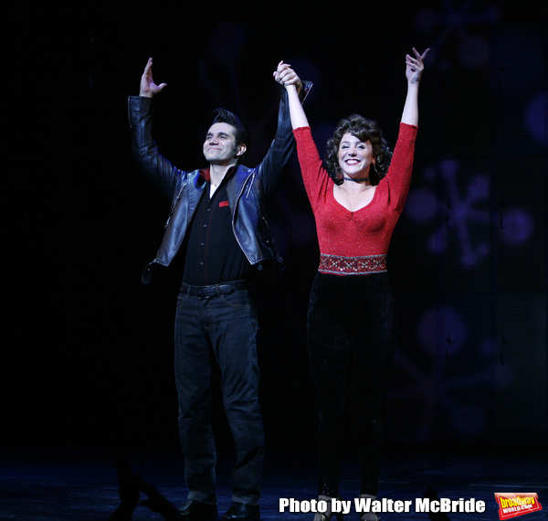 Derek Keeling & Anna Aimee White taking bows during American Idol Heartthrob Ace Young makes his Broadway Debut in the Broadway Revival of GREASE at the Brooks Atkinson Theatre in New York City. September 11, 2008