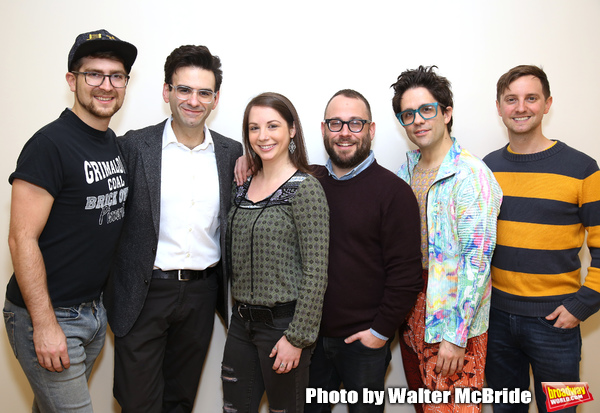 creative team: orchestrator Charlie Rosen, composer-lyricist Joe Icons, musical director Emily Marshall, director Stephen Brackett, choreographer Chase Brock, and book writer Joe Tracz