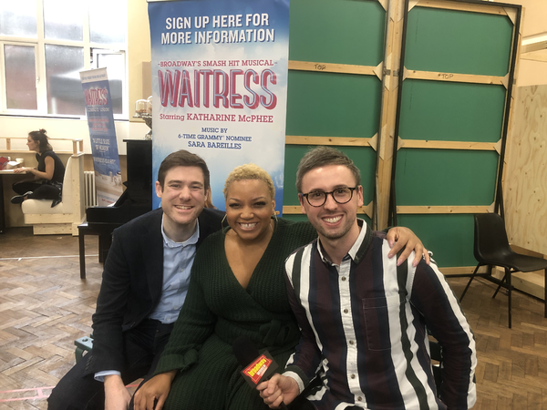David Hunter, Marisha Wallace and BroadwayWorld's Jamie Body Photo