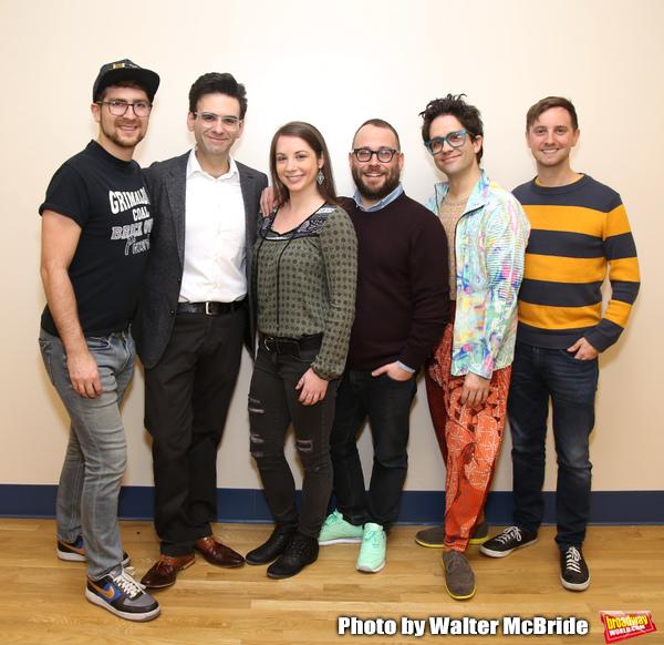 creative team: orchestrator Charlie Rosen, composer-lyricist Joe Iconis, musical dire Photo