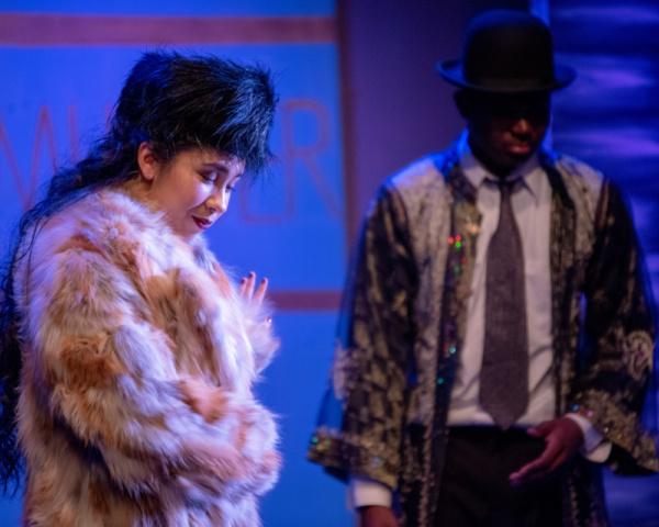 Amelia Yasuda as Lady Salome and John Woods III Photo