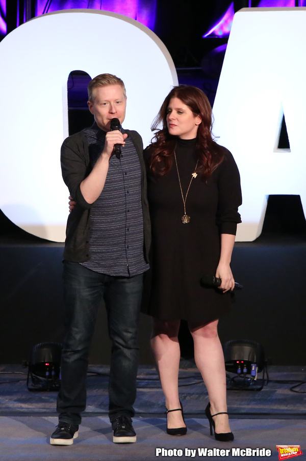 Anthony Rapp and Melissa Anelli