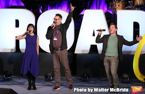 Susan Egan, Ben Cameron and Ethan Slater