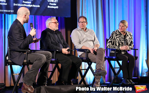 Lee Seymour, Charlie Flateman, Kurt Deutsch and Bonnie Comleyon stage during Broadwaycon at New York Hilton Midtown on January 11, 2019 in New York City.