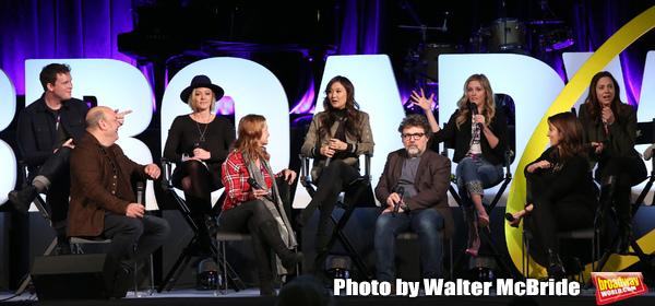 Grey Henson, Casey Nicholaw, Kate Rockwell, Nell Benjamin, Ashley Parker, Jeff Richmond, Taylor Louderman, Tina Fey and Erika Henningsen