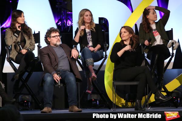 Ashley Parker, Jeff Richmond, Taylor Louderman, Tina Fey and Erika Henningsen Photo