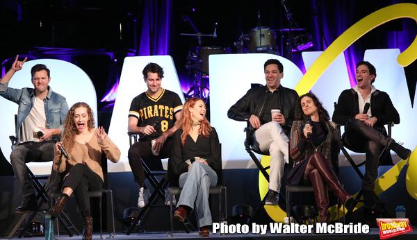 Matthew Hydzik, Micaela Diamond, Michael Campayno, Teal Wicks, Michael Berresse, Stephanie J. Block and Jarrod Spector