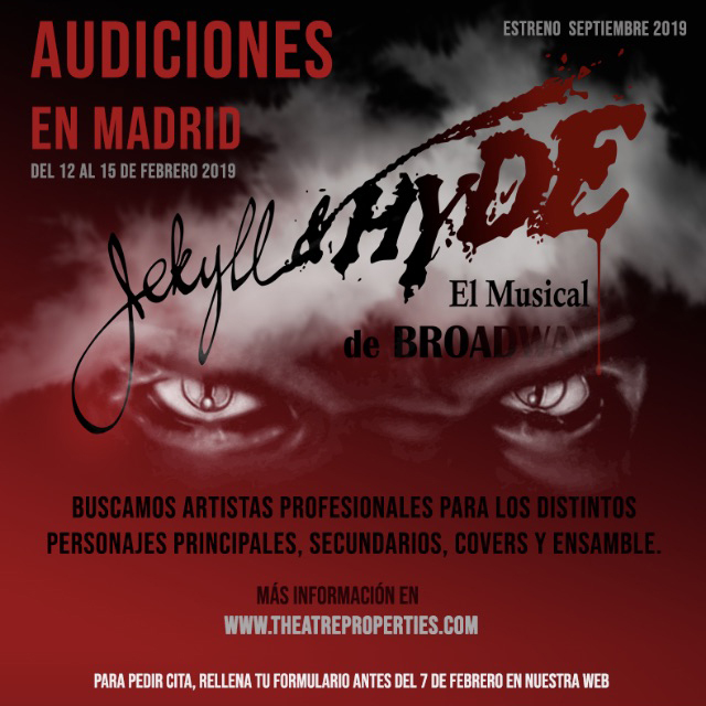 ANNIE y JEKYLL Y HYDE convocan audiciones en Madrid