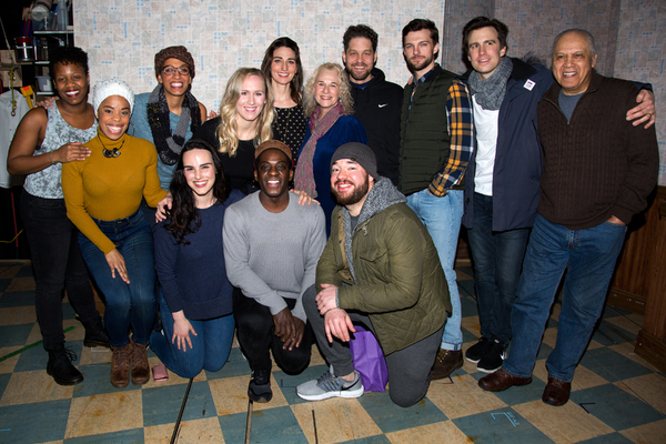 Carole King and the cast of WAITRESS