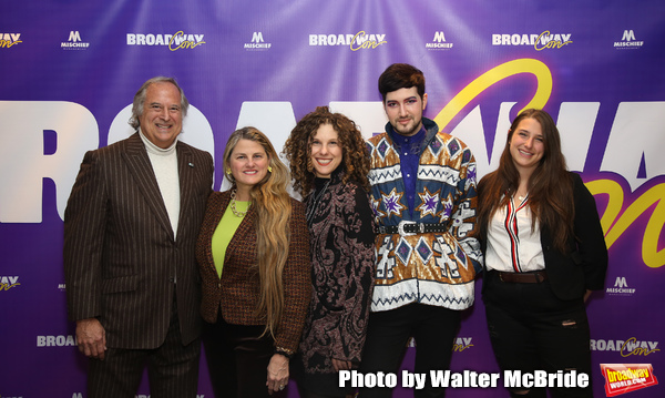 Broadway founders Stewart F. Lane and  Bonnie Comley with Ellie Heyman, Max Vernon and Leah Lane