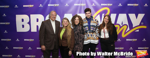 BroadwayHD founders Stewart F. Lane and  Bonnie Comley with Ellie Heyman, Max Vernon and Leah Lane attend a reception for �An Artist's Perspective of Stage to Screen� during BroadwayCON at New York Hilton Midtown on January 13, 2019 in New York City