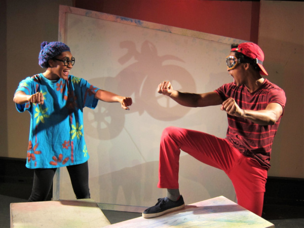 Gabrielle Bullard plays Archie and Justin Jorrell plays Peter in The Snowy Day and Other Stories by Ezra Jack Keats, now playing at St. Luke''s Theatre.