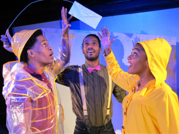 Justin Jorrell, Justin Campbell, and Gabrielle Bullard in The Snowy Day and Other Stories by Ezra Jack Keats.