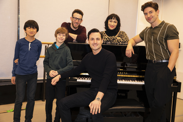 Photo Flash: Rehearsals Begin for the Tight-Knit FALSETTOS Family