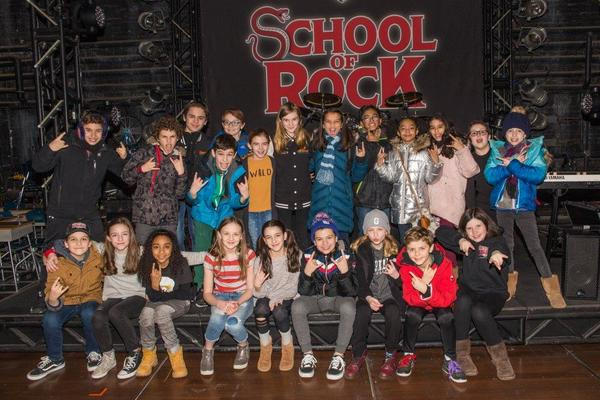 Photo Flash: THE FERRYMAN Kids Visit SCHOOL OF ROCK