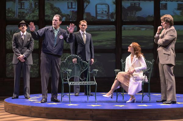 Swifty Lazar (Patrick Russell), Richard Nixon (Allen McCullough), Jack Brennan (Craig Marker), Caroline Cushing (Elena Wright), and David Frost (Jeremy Webb)