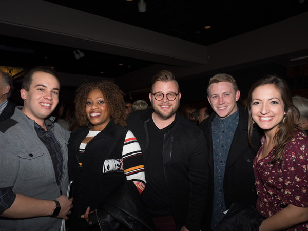 Matthew Ballestero, Amber Snead, Jeffrey Derus, Chad Page, and Katie Perry