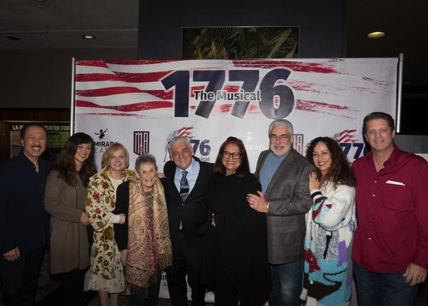 La Mirada Council Member Ed Eng, Cathy Casuga Eng, Cathy Rigby, Myllie Taylor, Mayor Pro Tem Steve De Ruse, Alitza Benitez Lewis, and Council Member John Lewis