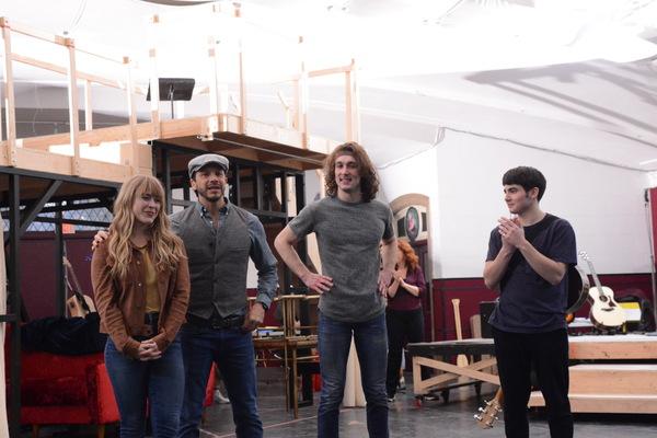 Erika Olson, Nick Kenkel (Associate Director and Choreographer), Conor Ryan and Jonny Amies