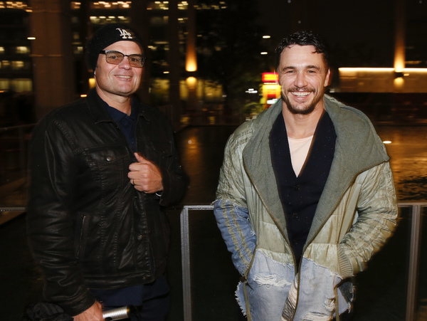 From left, actors Chris Bauer and James Franco