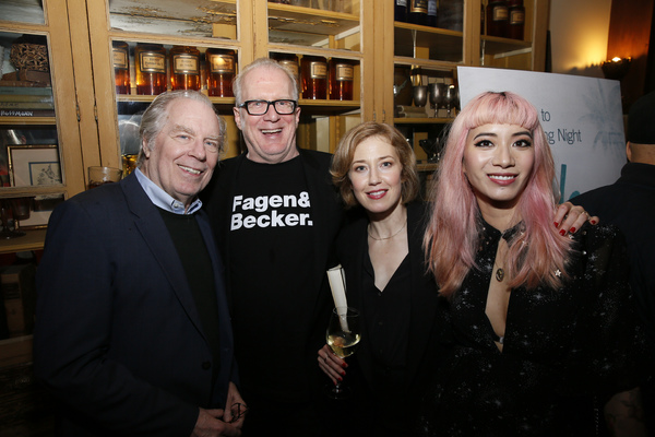 From left, actor Michael McKean, playwright Tracy Letts, actor Carrie Coon and cast member Chantal Thuy