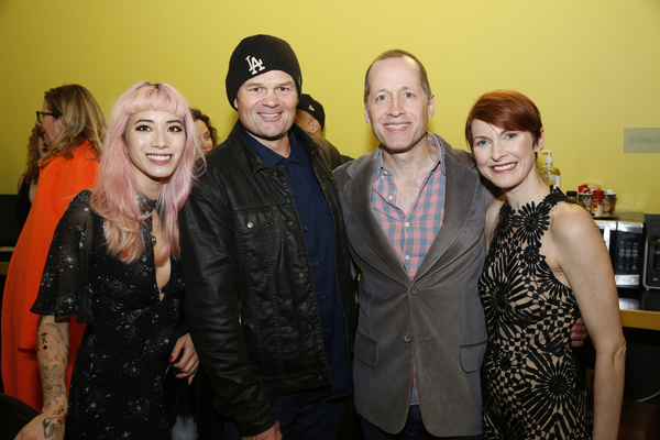 From left, cast member Chantal Thuy, actor Chris Bauer and cast members Tim Hopper an Photo